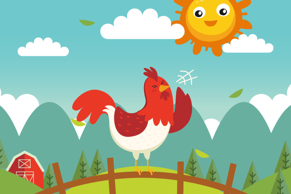 小公鸡学吹喇叭
